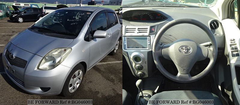 interior and exterior of a used low cost toyota vitz