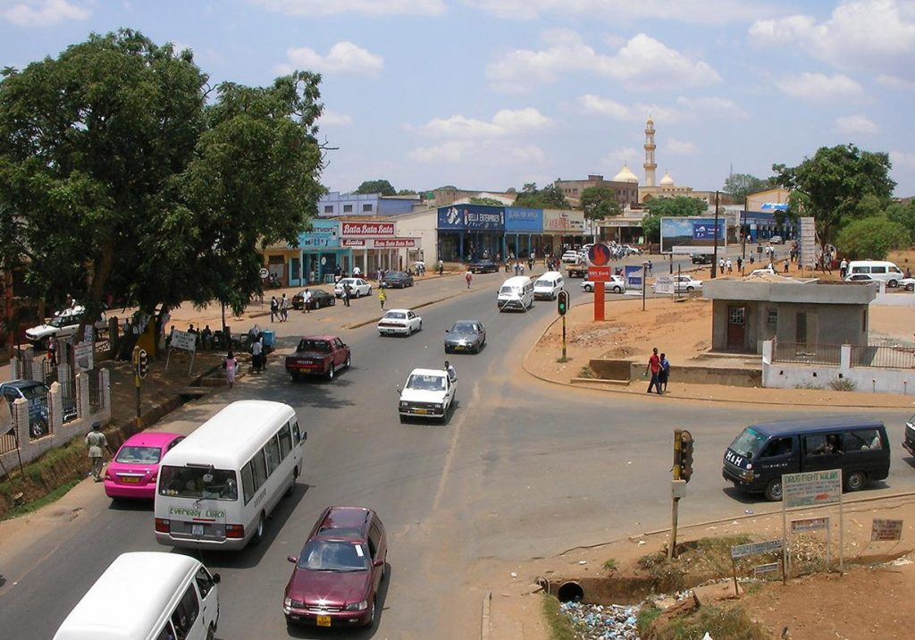 Image of traffic on a road in Lilongwe in Malawi