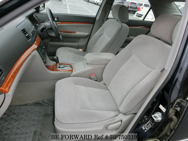 The interior of a used 2003 Toyota Mark II from online Japanese used car exporter BE FORWARD.