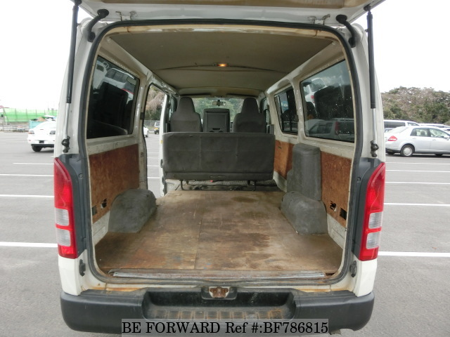 The interior of a used 2006 Toyota RegiusAce Van from online used car exporter BE FORWARD.