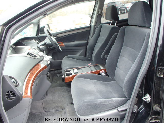 The interior of a used 2007 Honda Odyssey from online used Japanese cars exporter BE FORWARD.