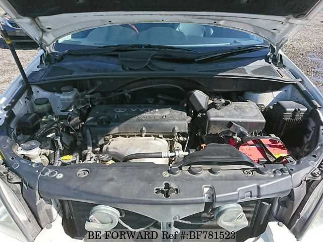 The engine of a used 2008 Toyota Harrier from online used car exporter BE FORWARD.