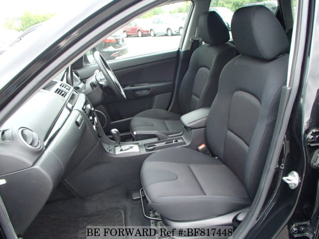 The interior of a used 2009 Mazda Axela Sport from online used car exporter BE FORWARD.