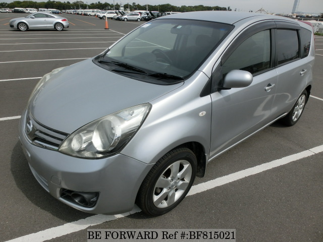 A used 2010 Nissan Note from online used Japanese cars exporter BE FORWARD.