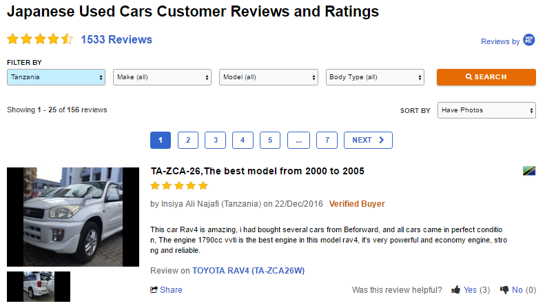 BE FORWARD - Customer Reviews