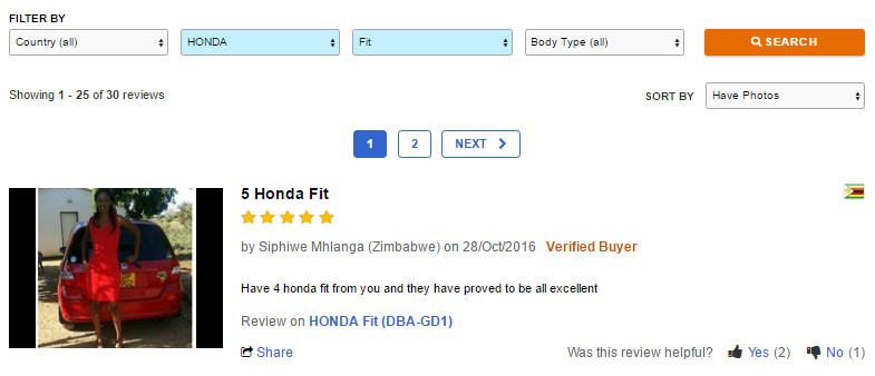 BE FORWARD - Review of a Honda Fit
