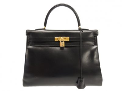 Hermes HERMES Kelly 35 Box Calf Square A Engraved Black Y1530717 (5,555 USD)