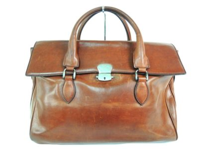 Berlutti Leather Briefcase Business Bag Emmio Brown Brown Y1844745 (2,380 USD)