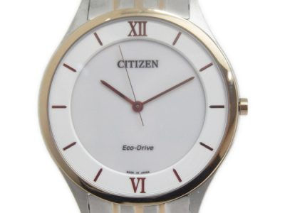 Citizen Eco Drive G431 Combination Mens Watch Solar Quartz White Dial Y2261532 (90 USD)