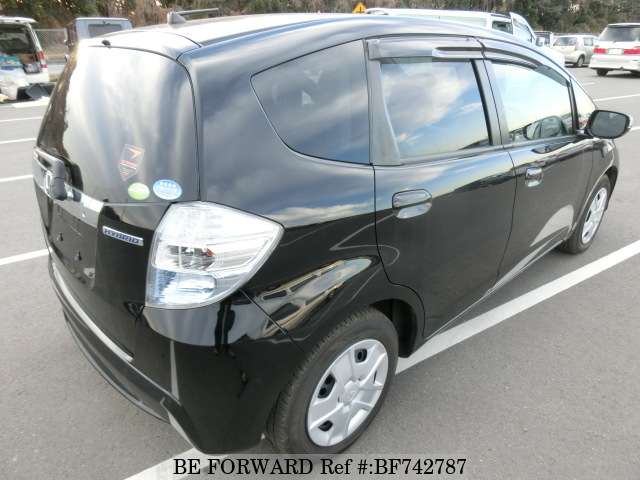 Rear Of A Used 2012 Honda Fit Hybrid From Used Car Dealer BE FORWARD.
