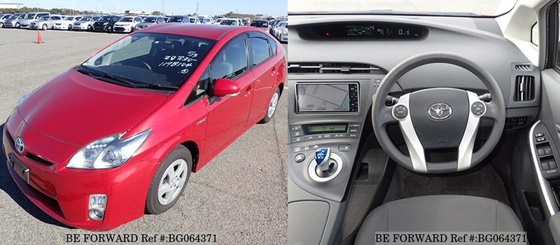 interior and exterior of a cheap used toyota prius