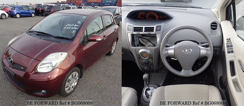 interior and exterior of a used toyota vitz from be forward