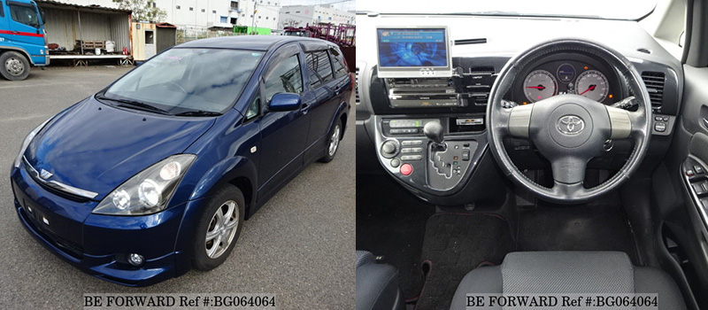 interior and exterior of a cheap used toyota wish