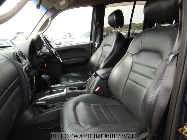 The interior of a used 2001 Jeep Cherokee from online used car exporter BE FORWARD.