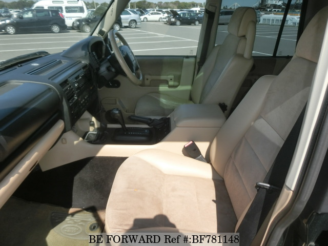 The interior of a used 2002 Land Rover Discovery from online used car exporter BE FORWARD.