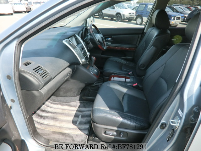 The interior of a used 2003 Toyota Harrier from online used car exporter BE FORWARD.