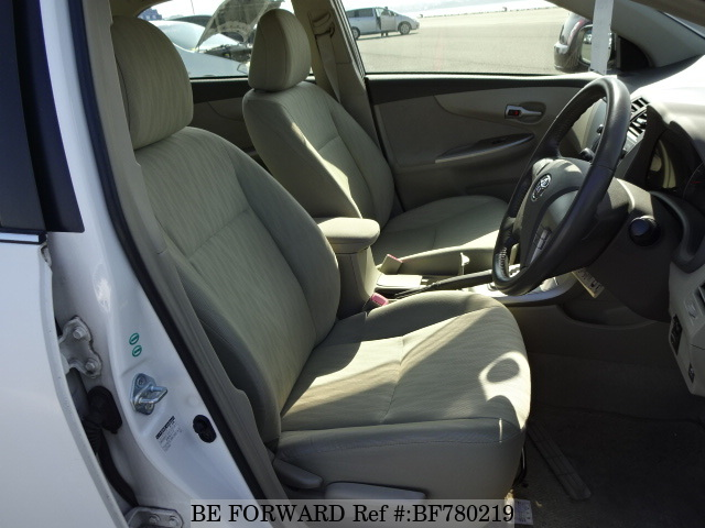 The interior of a used 2006 Toyota Corolla Axio from online used car exporter BE FORWARD.