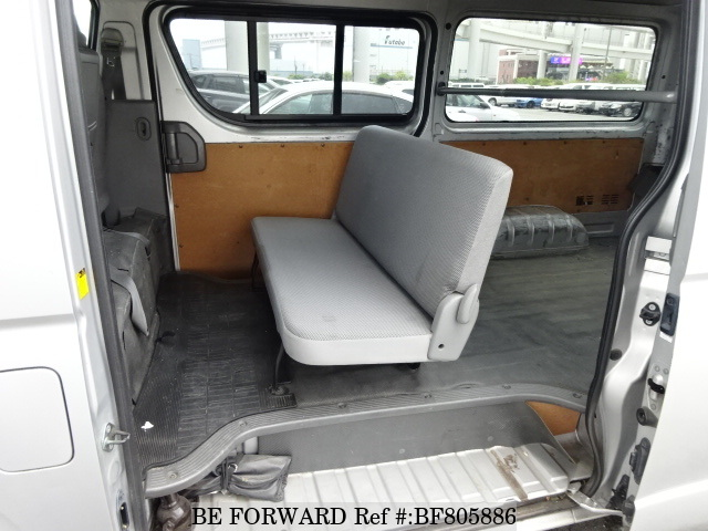 The interior of a used 2009 Toyota HiAce Van from online used car exporter BE FORWARD.