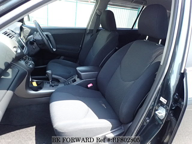 The interior of a used 2009 Toyota RAV4 from online used car exporter BE FORWARD.