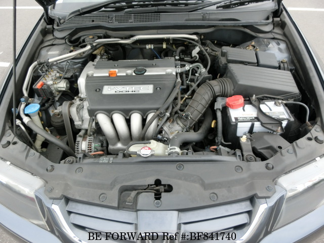 Engine of a used 2002 Honda Accord from online used car exporter BE FORWARD.