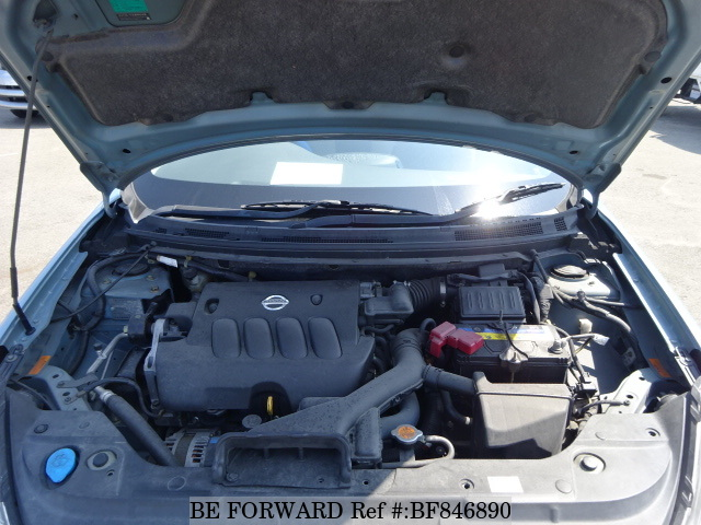 Engine of a used 2006 Nissan Bluebird Sylphy from online used car exporter BE FORWARD.
