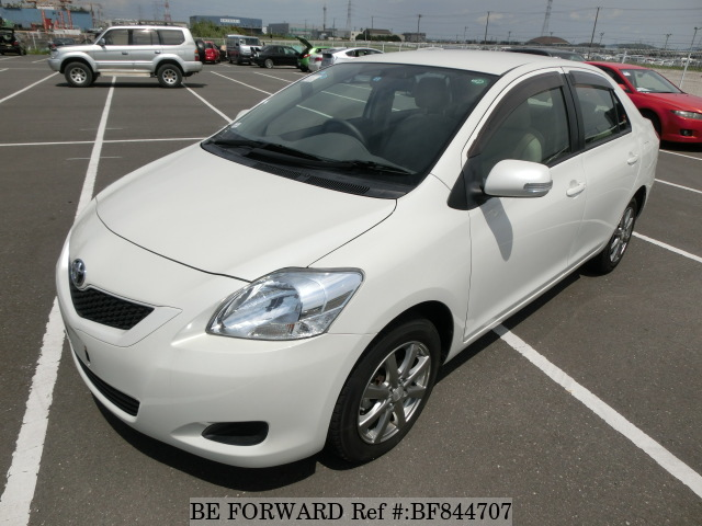 A used 2011 Toyota Belta from online used car exporter BE FORWARD.