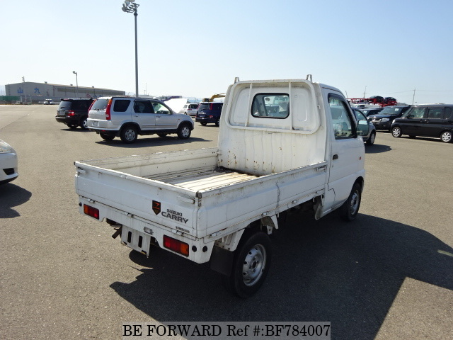 The rear of a used 1999 Suzuki Carry Truck from online used car exporter BE FORWARD.