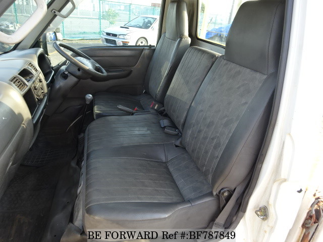 The interior of a used 2000 Mazda Bongo Truck from online used car exporter BE FORWARD.