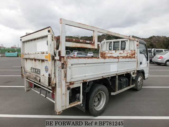 The rear of a used 2003 Isuzu Elf Truck from online used car exporter BE FORWARD.