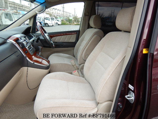 The interior of a used 2003 Toyota Alphard from online used car exporter BE FORWARD.