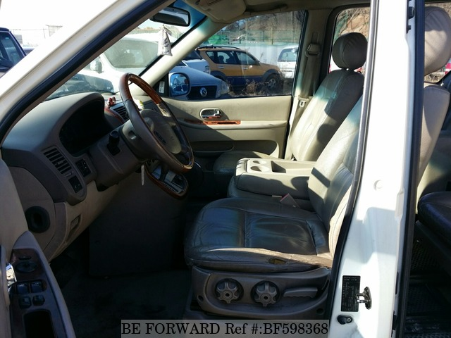 The interior of a used 2005 Kia Carnival from online used car exporter BE FORWARD.
