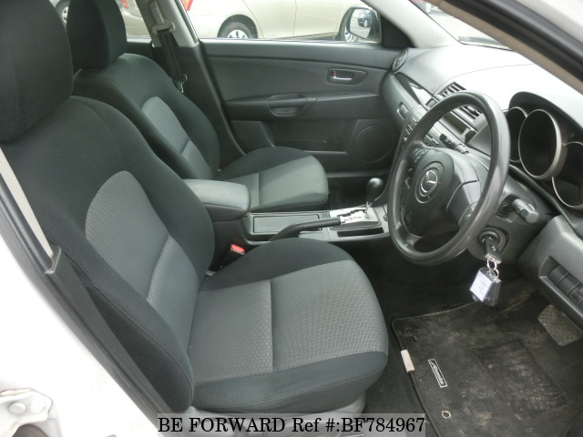 The interior of a used 2007 Mazda Axela Sport from online used car exporter BE FORWARD.