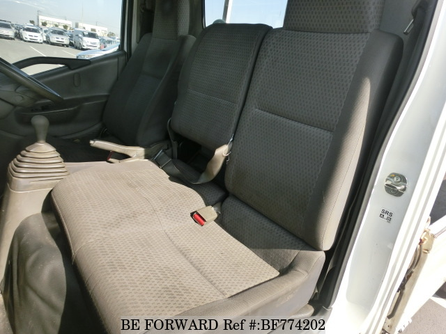 The interior of a used 2008 Nissan Atlas from online used car exporter BE FORWARD.