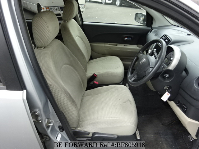 The interior of a used 2008 Toyota Passo from online used Japanese car exporter BE FORWARD.