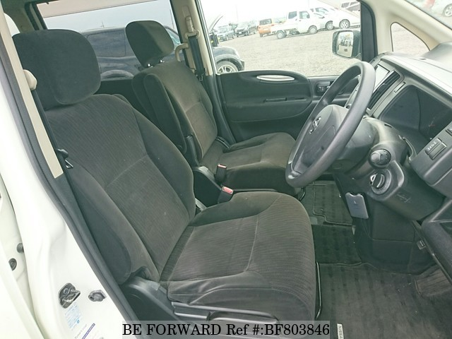 The interior of a used 2009 Nissan Serena from online used car exporter BE FORWARD.