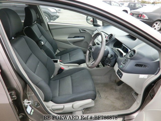 The interior of a used 2010 Honda Insight from online used car exporter BE FORWARD.