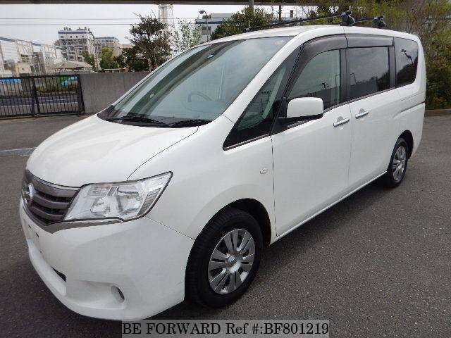 A used 2012 Nissan Serena from online used car exporter BE FORWARD.