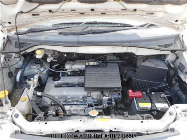 Engine of a used 2000 Nissan Serena from used car dealer BE FORWARD.