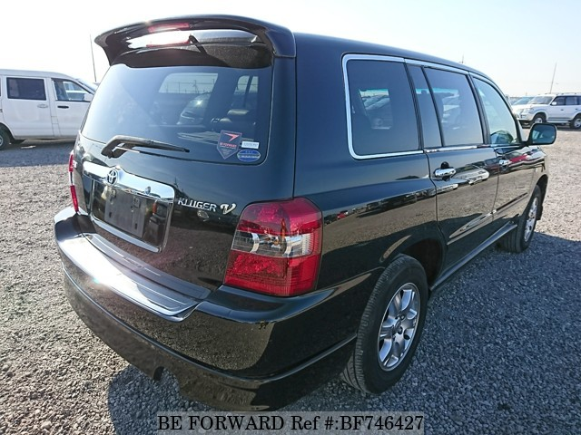 The rear of a used 2003 Toyota Kluger from used car dealer BE FORWARD.