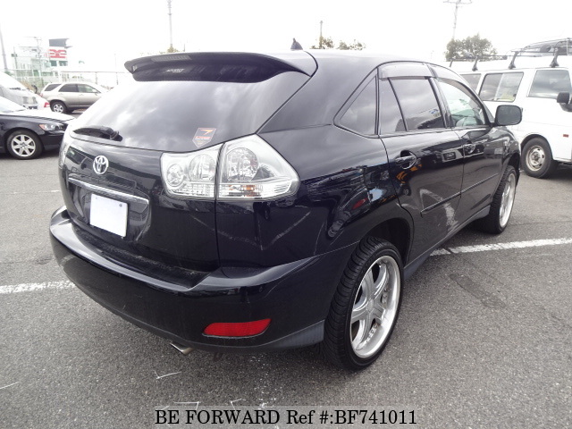 The rear of a used 2005 Toyota Harrier from used car dealer BE FORWARD.