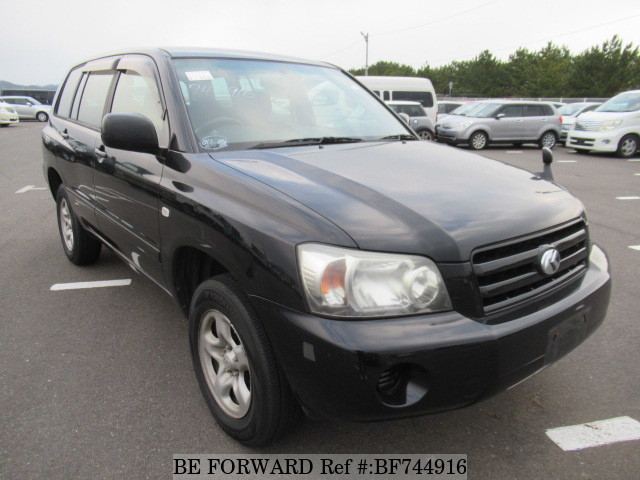 The front of a used 2005 Toyota Kluger from used car dealer BE FORWARD.