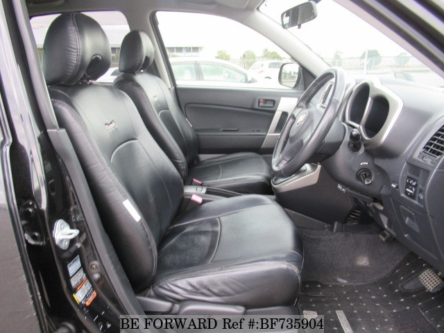 The interior of a used 2006 Toyota Rush from used car dealer BE FORWARD.