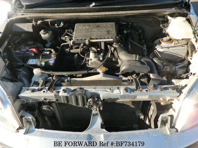 The engine of a used 2006 Toyota Rush from used car dealer BE FORWARD.