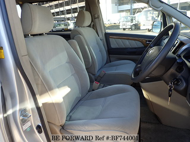 Interior of a used 2007 Toyota Alphard from used car dealer BE FORWARD.