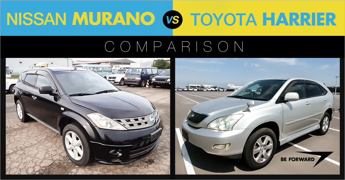 Toyota Harrier Vs Nissan Murano Crossover Suv Comparison Standoff