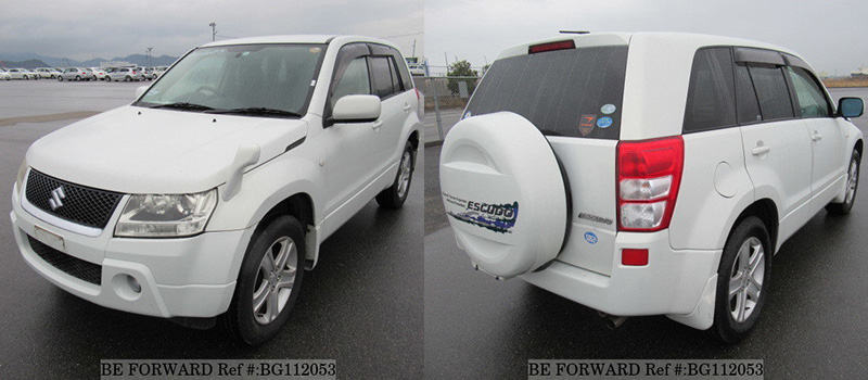 front of a used suzuki escudo/vitara vs toyota rush