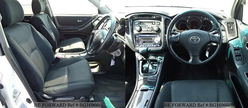 toyota kluger interior vs vanguard