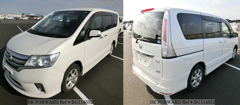 used nissan serena exterior front and rear