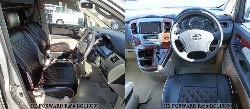 used toyota alphard interior features