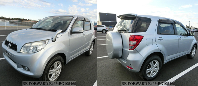 front and rear of a used toyota rush vs escudo/vitara
